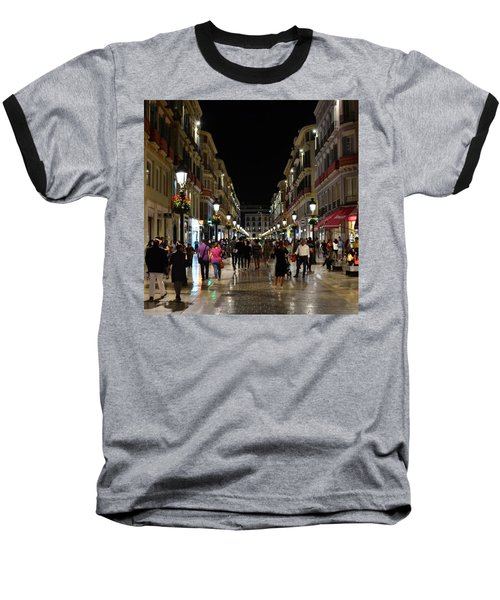 Centro De Malaga By Night - #ig_malaga Baseball T-Shirt