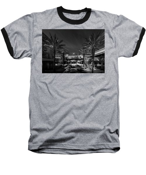 Baseball T-Shirt featuring the photograph Centro Ybor Bw by Marvin Spates