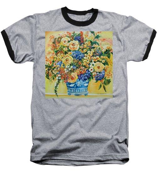 Ceramic Blue Baseball T-Shirt by Alexandra Maria Ethlyn Cheshire