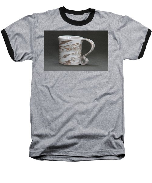 Ceramic Marbled Clay Cup Baseball T-Shirt by Suzanne Gaff