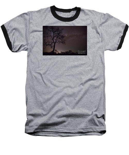 Cerrado By Night Baseball T-Shirt by Gabor Pozsgai