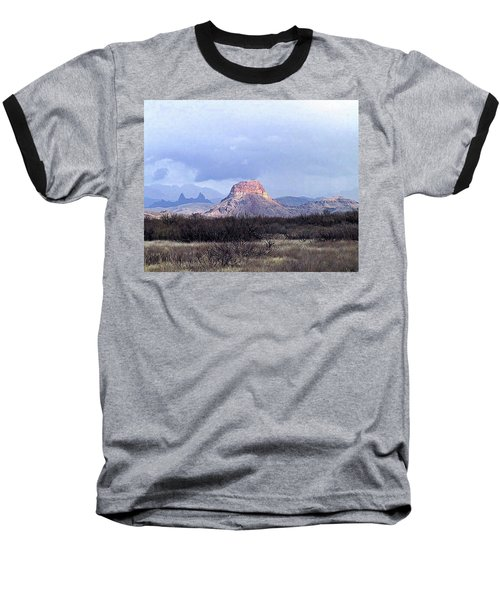 Baseball T-Shirt featuring the painting Cerro Castellan And Mule Ears  by Dennis Ciscel