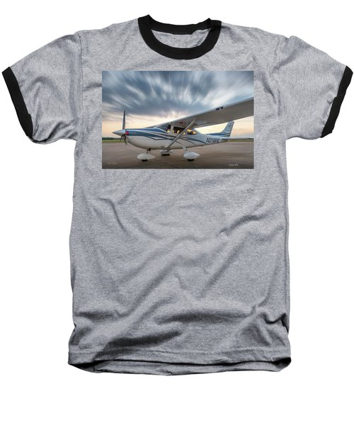 Cessna 182 On The Ramp Baseball T-Shirt