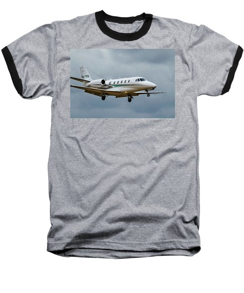 Cessna Citation X Landing Baseball T-Shirt by James David Phenicie