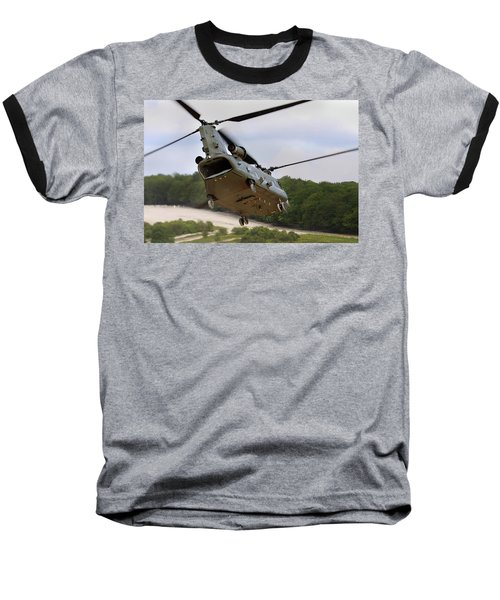 Ch47 Chinook On Manoeuvres Baseball T-Shirt by Ken Brannen