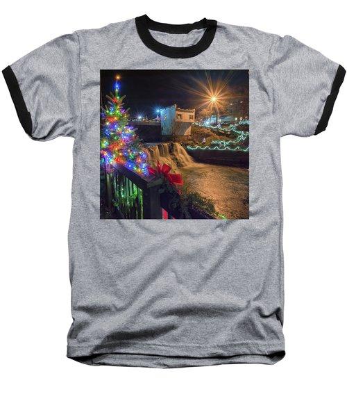 Chagrin Falls At Christmas Baseball T-Shirt