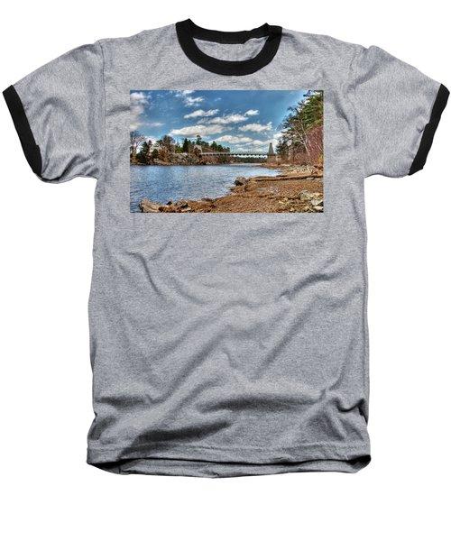 Chain Bridge On The Merrimack Baseball T-Shirt