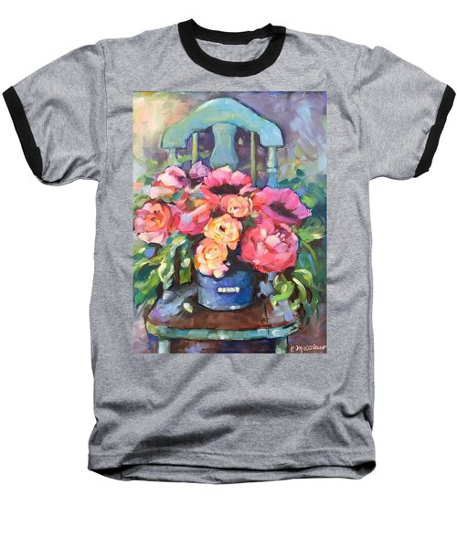 Chair With Flowers Baseball T-Shirt