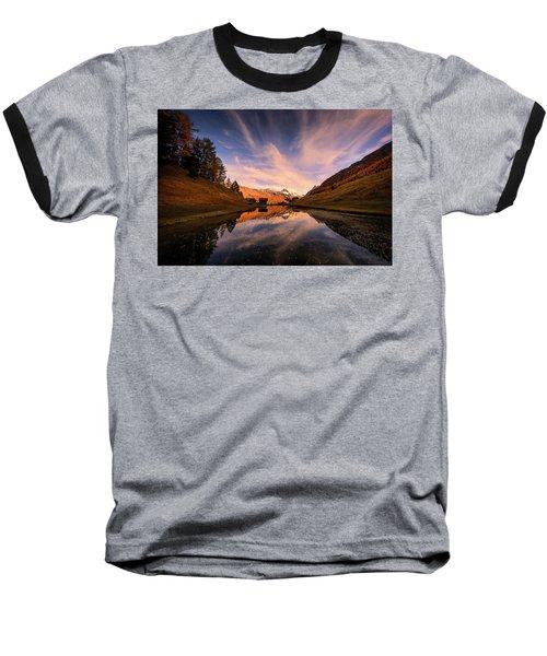 Chalet With An Autumn View Baseball T-Shirt