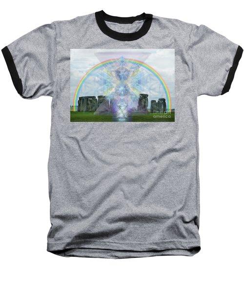 Chalice Over Stonehenge In Flower Of Life Baseball T-Shirt