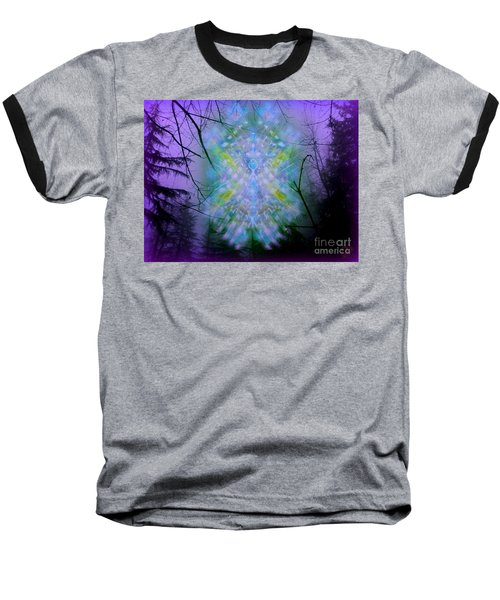 Chalice-tree Spirit In The Forest V1a Baseball T-Shirt by Christopher Pringer