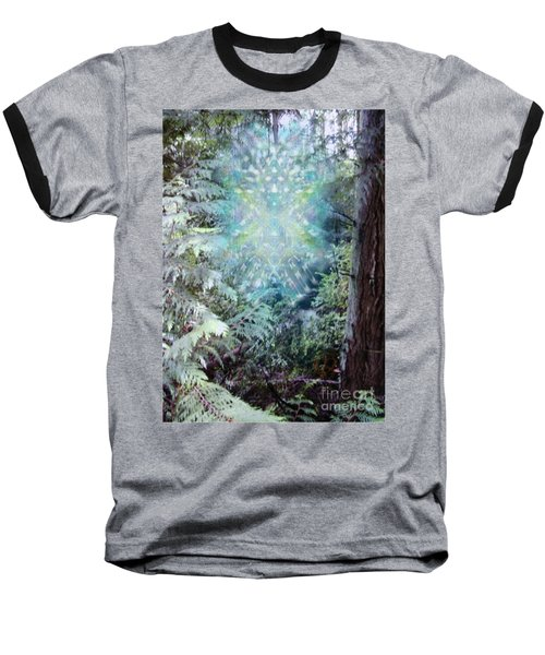 Chalice-tree Spirit In The Forest V3 Baseball T-Shirt by Christopher Pringer