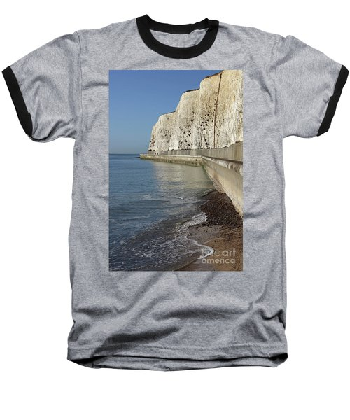 Chalk Cliffs At Peacehaven East Sussex England Uk Baseball T-Shirt