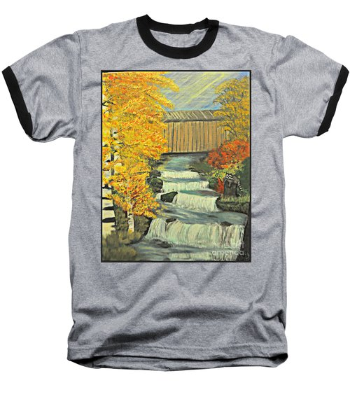 Chambers Covered Bridge  Baseball T-Shirt