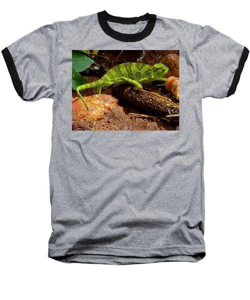 Chameleon Struts His Stuff Baseball T-Shirt