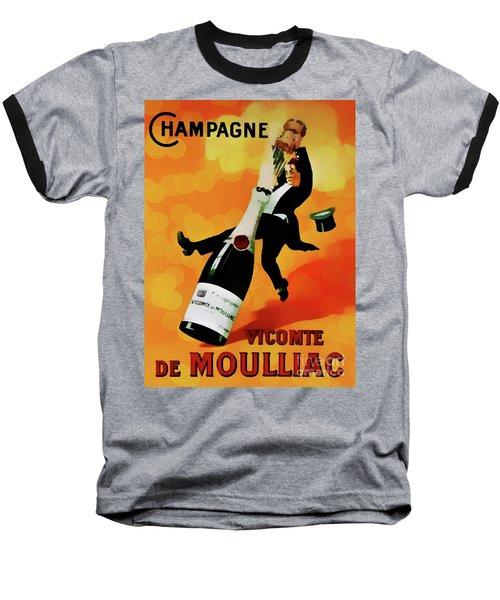 Champagne Celebration Baseball T-Shirt by Ian Gledhill