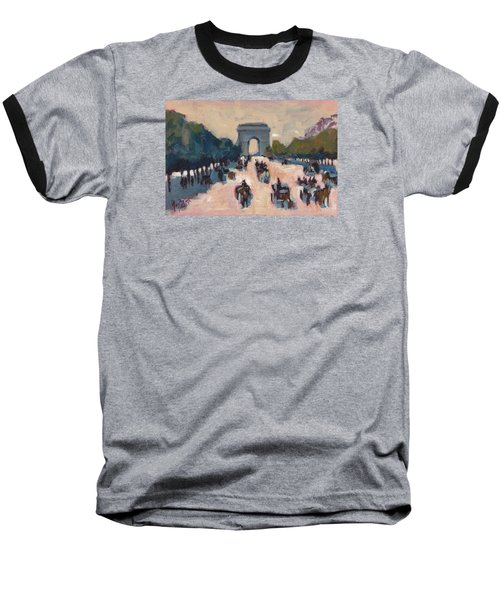 Champs Elysees Paris Baseball T-Shirt