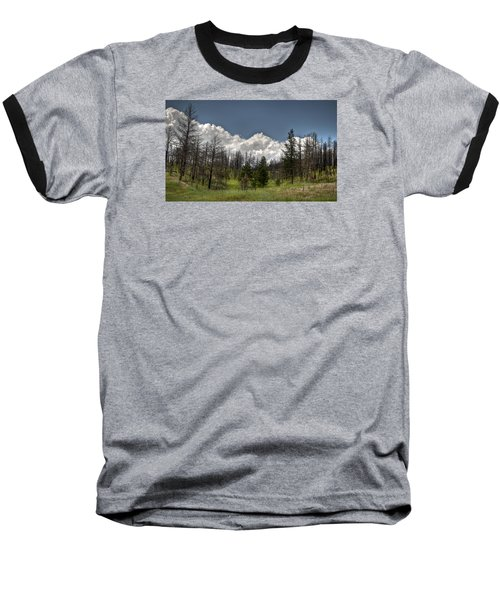 Baseball T-Shirt featuring the photograph Chance Of Clouds by Deborah Klubertanz