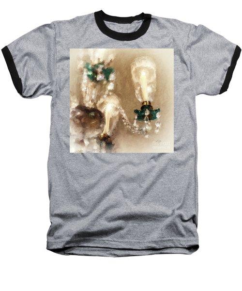 Baseball T-Shirt featuring the digital art Chandelier At Winterthur by Lois Bryan