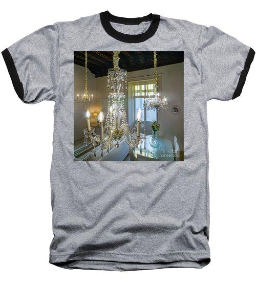 Baseball T-Shirt featuring the photograph Chandeliers Transatlantic Company Delegation Cadiz Spain by Pablo Avanzini