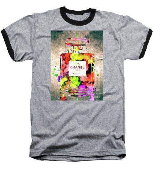 Chanel No 5 Baseball T-Shirt by Daniel Janda