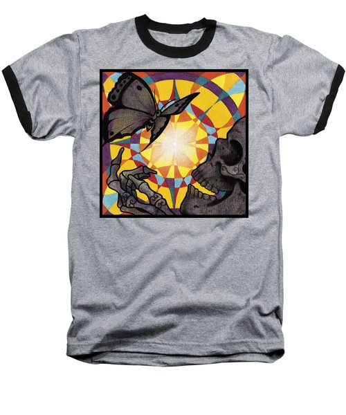 Change Mandala Baseball T-Shirt by Deadcharming Art