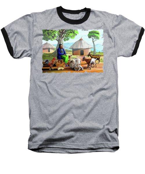 Change Of Scene Baseball T-Shirt by Anthony Mwangi