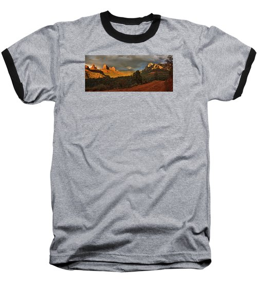 Changing Hues At Sunset Baseball T-Shirt