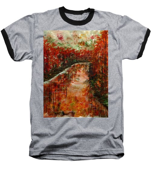 Changing Room Baseball T-Shirt by Lisa Aerts