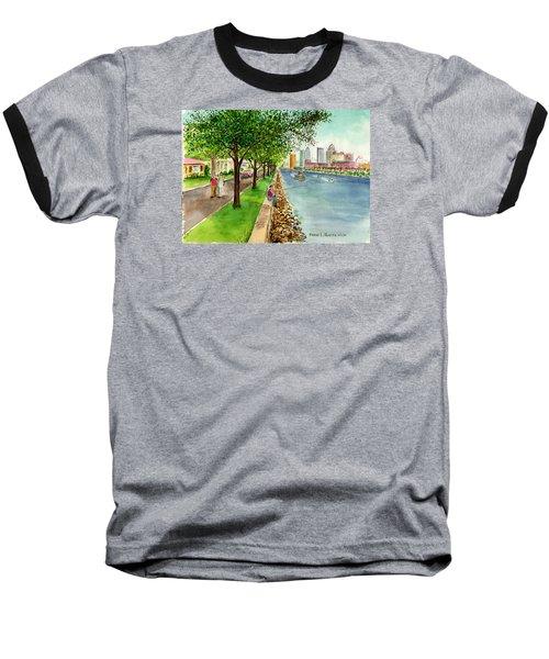 Channel Drive Tampa Florida Baseball T-Shirt by Frank Hunter