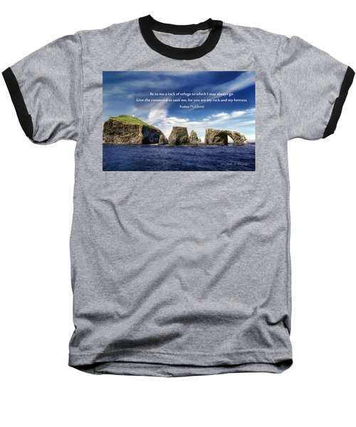 Channel Island National Park - Anacapa Island Arch With Bible Verse Baseball T-Shirt