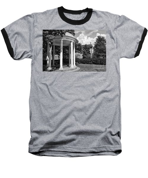 Chapel Hill Old Well In Black And White Baseball T-Shirt