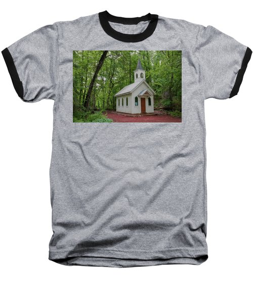 Chapel In The Woods 1 Baseball T-Shirt by Trey Foerster
