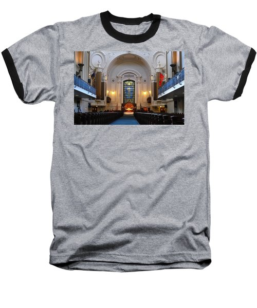 Chapel Interior - Us Naval Academy Baseball T-Shirt by Lou Ford