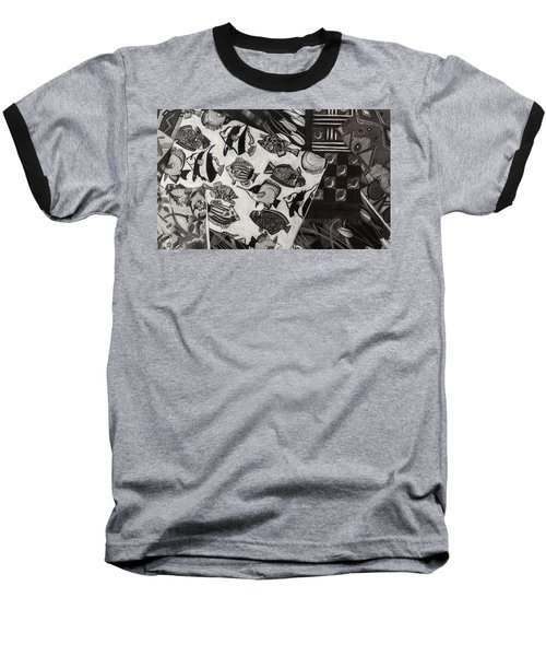 Charcoal Chaos Baseball T-Shirt