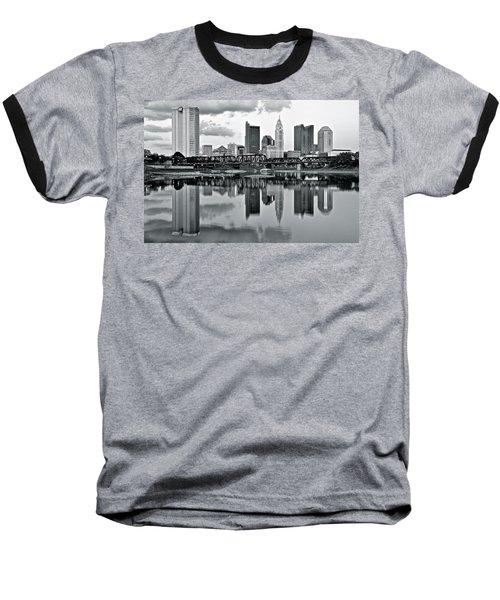 Charcoal Columbus Mirror Image Baseball T-Shirt