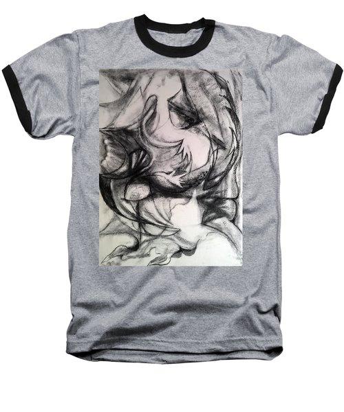 Charcoal Study Baseball T-Shirt