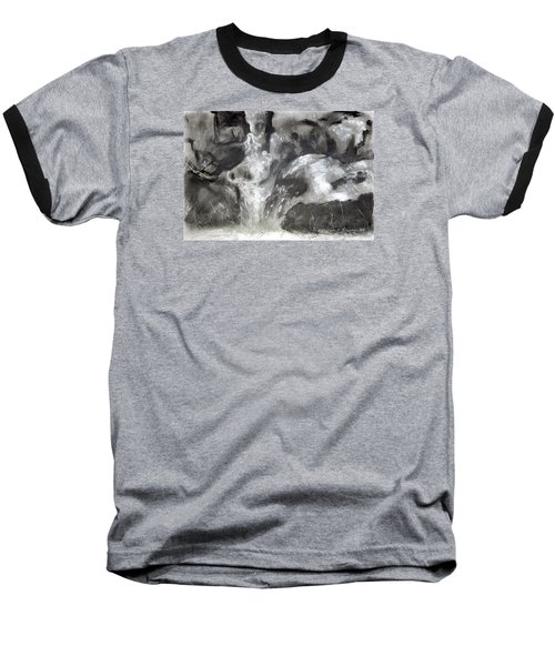 Charcoal Waterfall Baseball T-Shirt