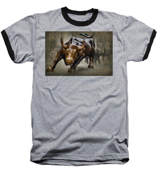 Charging Bull Baseball T-Shirt