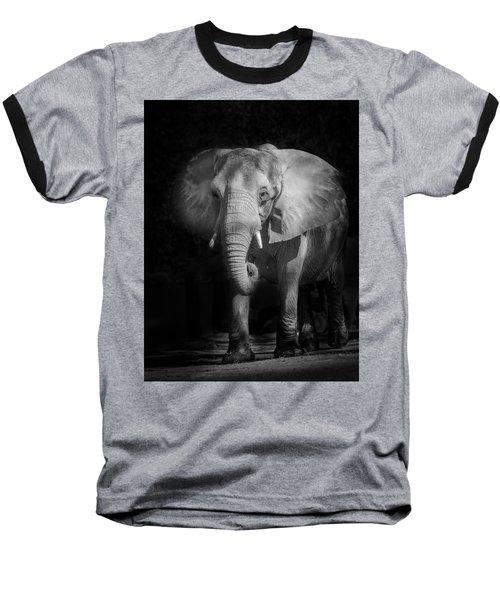 Charging Elephant Baseball T-Shirt