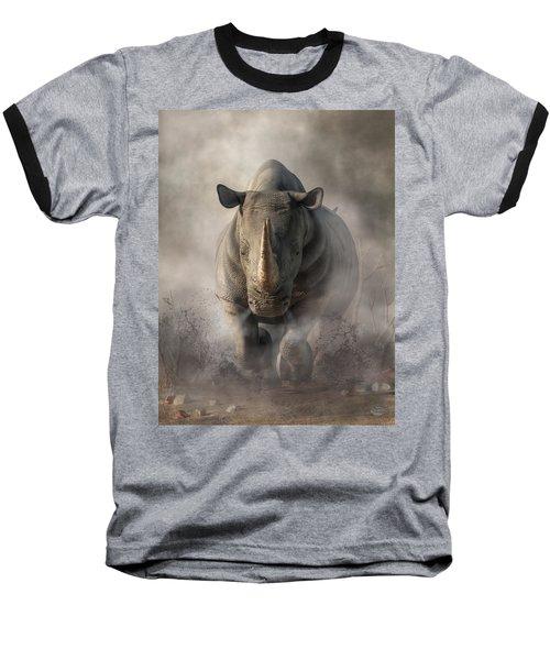 Charging Rhino Baseball T-Shirt