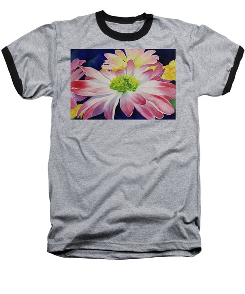 Baseball T-Shirt featuring the painting Charisma by Judy Mercer