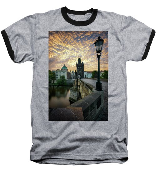 Charles Bridge, Prague, Czech Republic Baseball T-Shirt