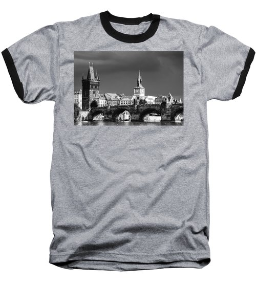 Charles Bridge Prague Czech Republic Baseball T-Shirt