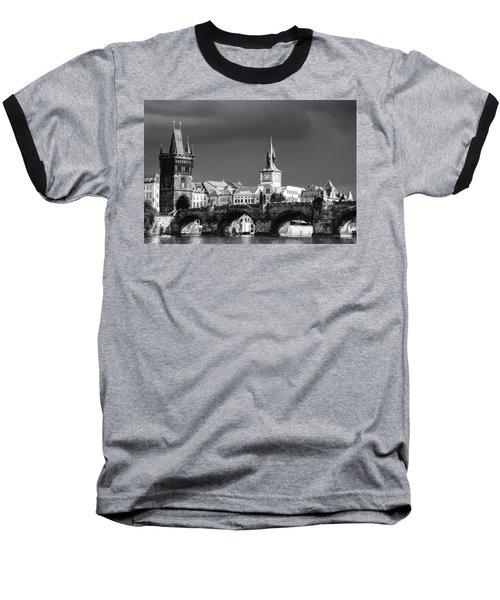 Charles Bridge Prague Czech Republic Baseball T-Shirt