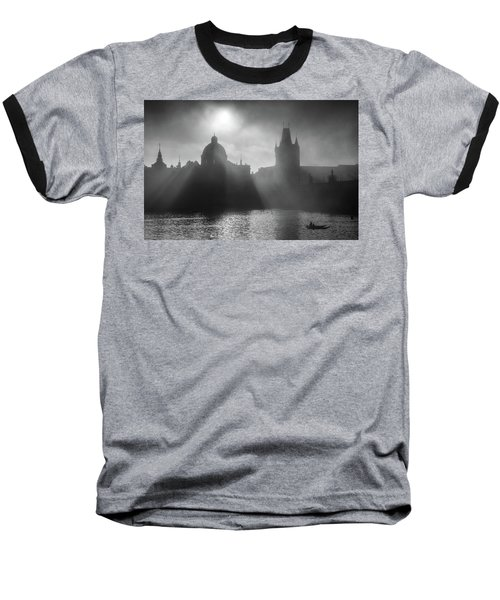 Charles Bridge Towers, Prague, Czech Republic Baseball T-Shirt