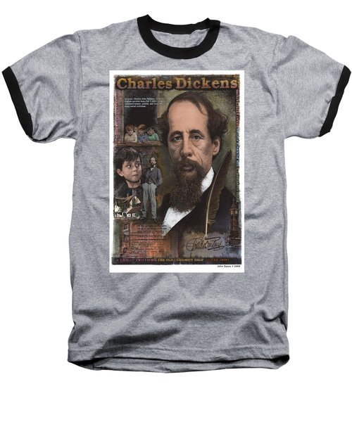 Charles Dickens Baseball T-Shirt