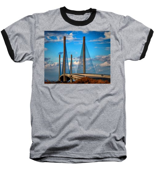 Charles W Cullen Bridge South Approach Baseball T-Shirt