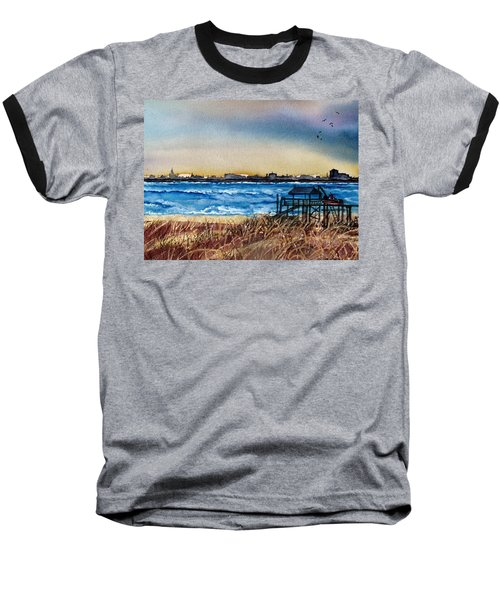Baseball T-Shirt featuring the painting Charleston At Sunset by Lil Taylor