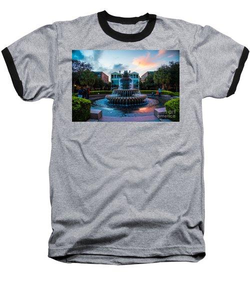 Charleston Pineapple Sunset Baseball T-Shirt by Robert Loe